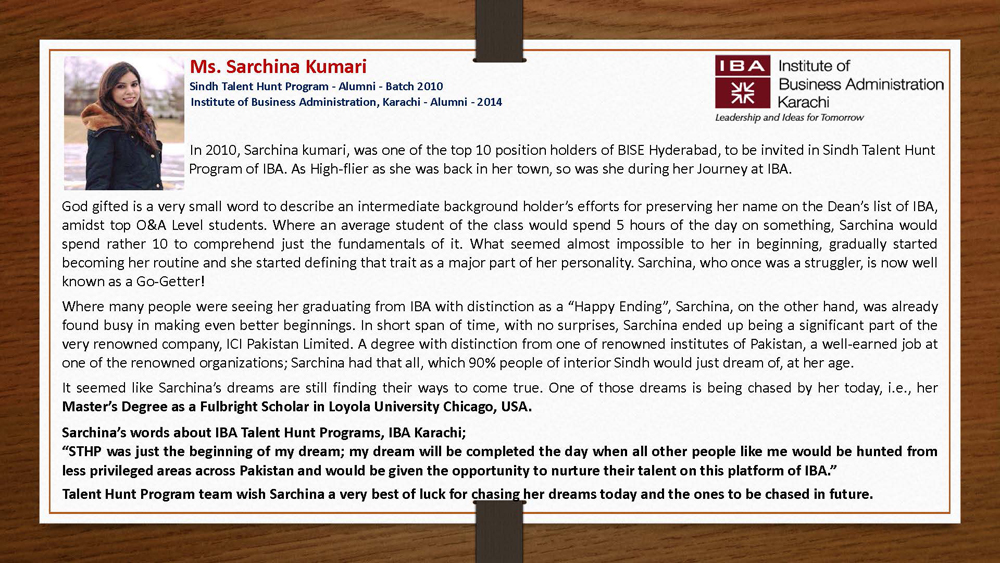 Achievement Unlocked! - Talent Hunt Program Student: Sarchina Kumari