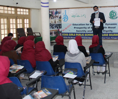 Outreach activities organized by NTHP team, IBA Karachi in different districts of Gilgit Baltistan